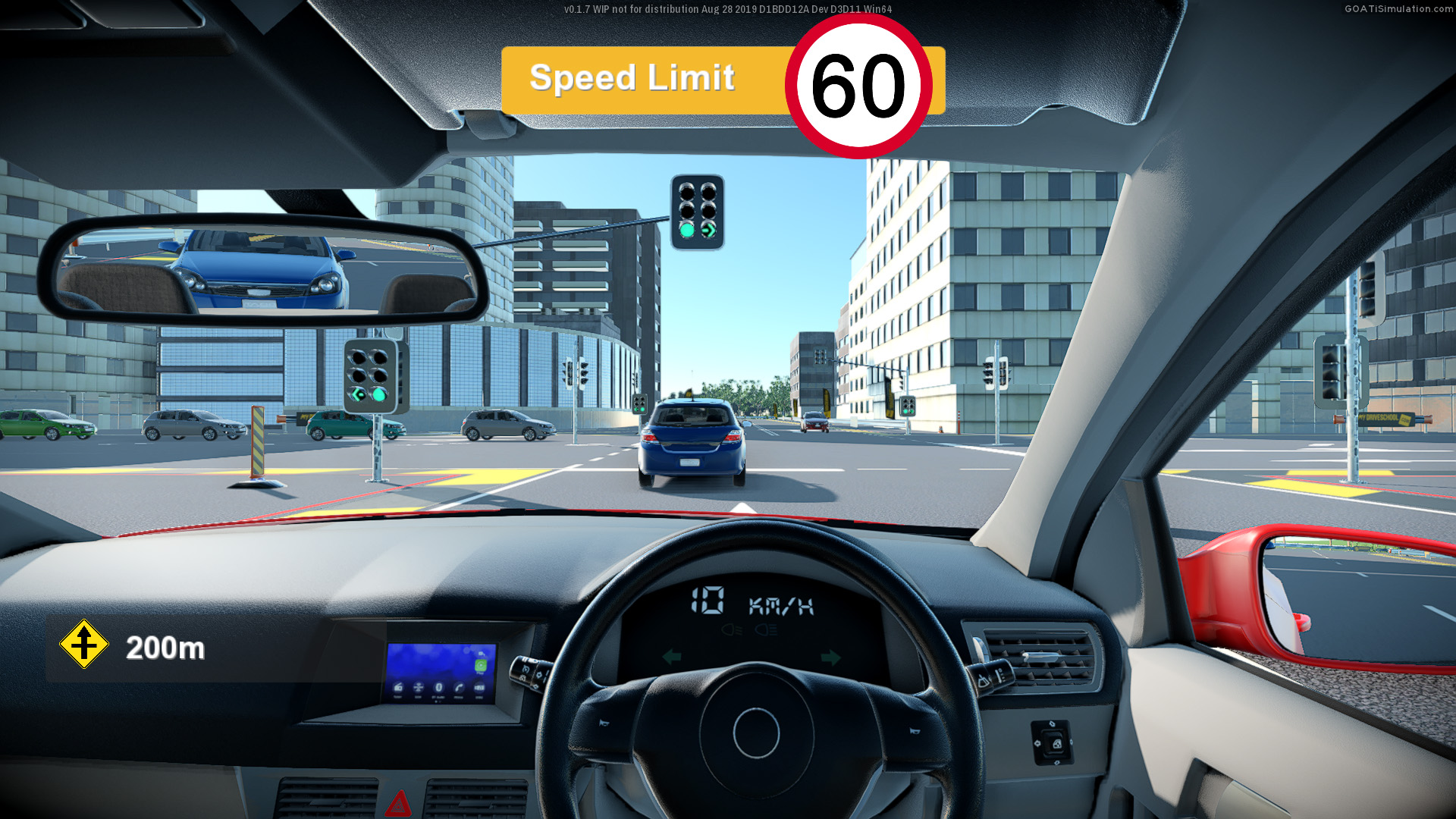 VR Driving Simulator - Signalled Intersection